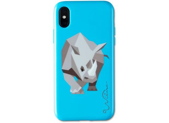 Wilma Electric Savanna Rhino for iPhone X/Xs blue