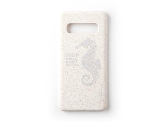 Wilma Stop Plastic Matt Seahorse for Galaxy S10+ White