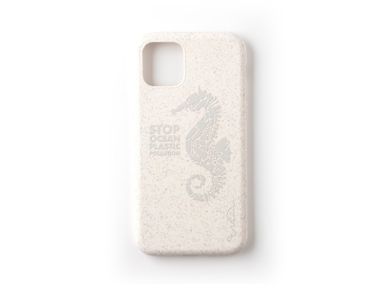 Wilma Stop Plastic Matt Seahorse for iPhone 11 Pro White