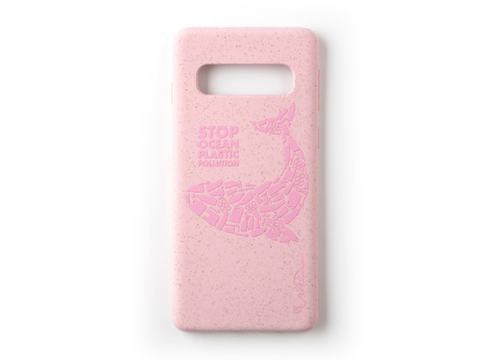 Wilma Stop Plastic Matt Whale for Galaxy S10 pink