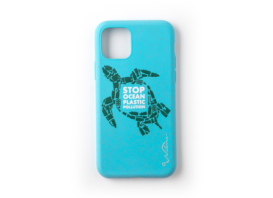 Wilma Stop Plastic Turtle for iPhone 11 light blue