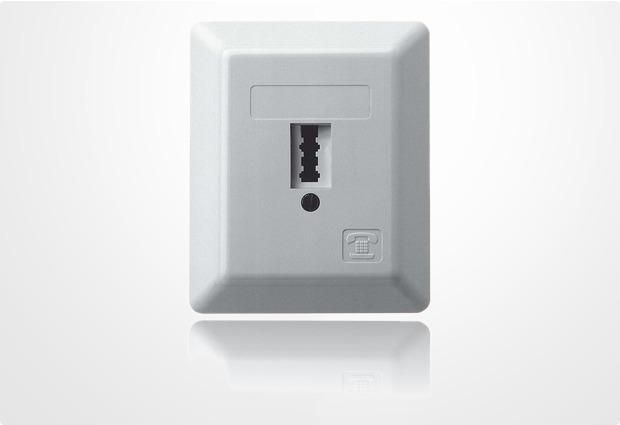 ZE Kom TAE-Anschlussdose mit U-Codierung (universal kodiert für F- oder N-Stecker), Aufputz