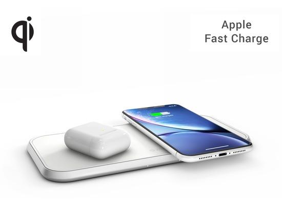 ZENS Aluminium Dual Wireless Charger 10W, Qi, weiß, ZEDC04W/00