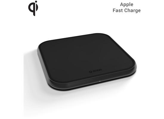 ZENS Aluminium Single Wireless Charger 10W mit USB-C Kabel, Qi, schwarz, ZESC11B/NA