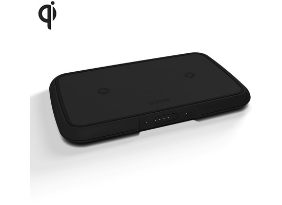 ZENS Dual Wireless Power Bank, 9000mAh, Qi, schwarz
