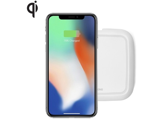 ZENS Single Wireless Charger 10W Qi weiß
