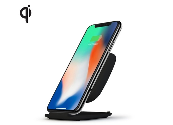 ZENS Ultra Fast Wireless Charger Stand 10W  Qi  schwarz