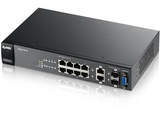 ZyXEL 8 port Gigabit L2 Managed Switch - (GS2210-8)