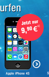 Apple iPhone 4S 8GB mit o2 Blue All-in S 300